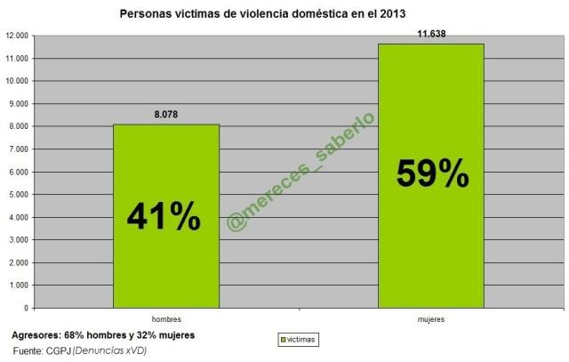 VD victimas y agresores 2013
